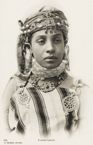 Young beauty of the Kabyle People - Berbers from North Eastern Algeria - estimate population today approx. 5 million individuals