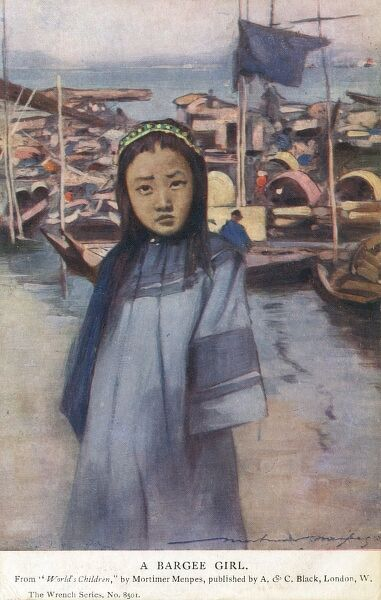 Young Chinese Girl - Barge Girl (probably from Hong Kong) Date: 1904
