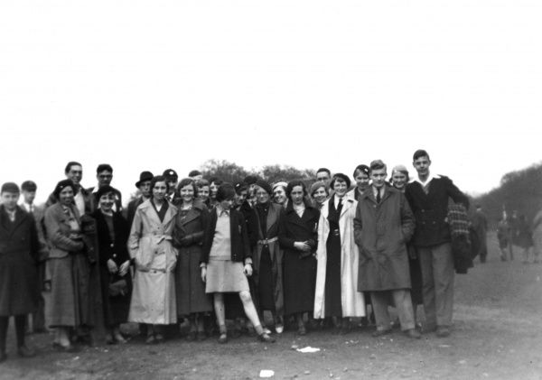 A happy group of young people, members of the Young People's Society, High Barnet, north London, England. Date: 22 April 1935