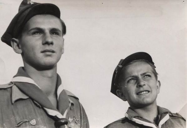 Two young Polish Scouts, circa 30s thirties 1930s circa 1930s