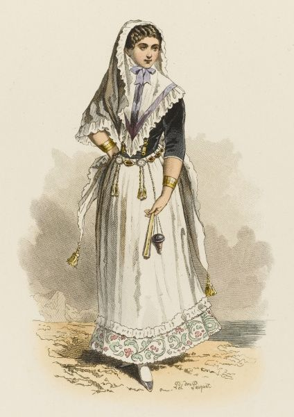 A young woman of Majorca