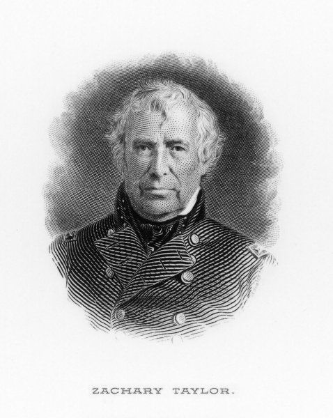 ZACHARY TAYLOR known as 'Old Rough-and-Ready' 12th American President (1849-50)