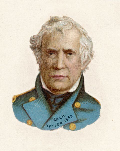 ZACHARY TAYLOR known as 'Old Rough-and-Ready' American soldier, 12th US President (1849-50)