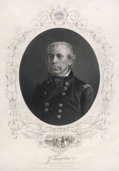 Zachary Taylor ka 'Old Rough-and-Ready' American soldier, twelfth president