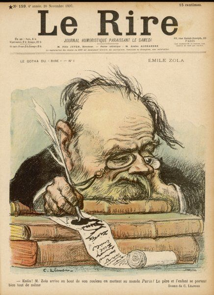 EMILE ZOLA French novelist, exhausted after writing his novel 'Paris', which was published the following year