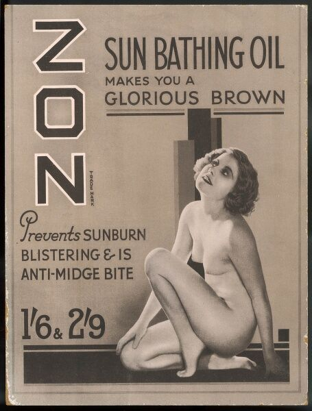 Zon sunbathing oil which makes you 'a glorious brown&#39
