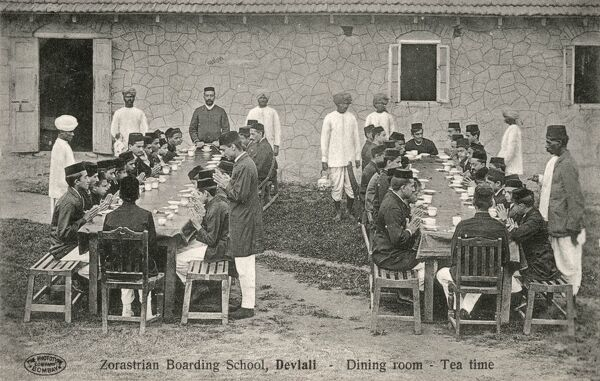 Zoroastrian Boarding School - Devlali, India - The Dining Room at Tea time