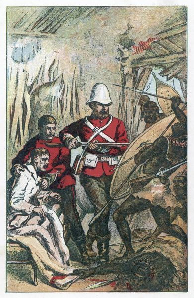 RORKE'S DRIFT Defending the hospital against the Zulu attack
