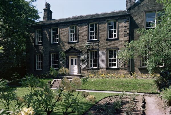 bronte vicarage parsonage haworth yorkshire england united kingdom europe