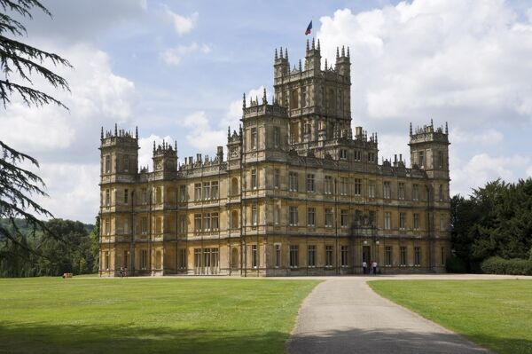 Highclere Castle, home of the Earl of Carnarvon, the 5th Earl famous for his archaeological work in Egypt, and the location for the BBC serial Downton Abbey, Hampshire, England, United Kingdom, Europe