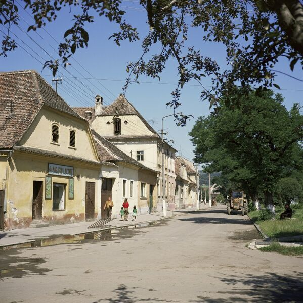 Quiet rural town, Dumbraveni, Transylvania, Romania, Europe