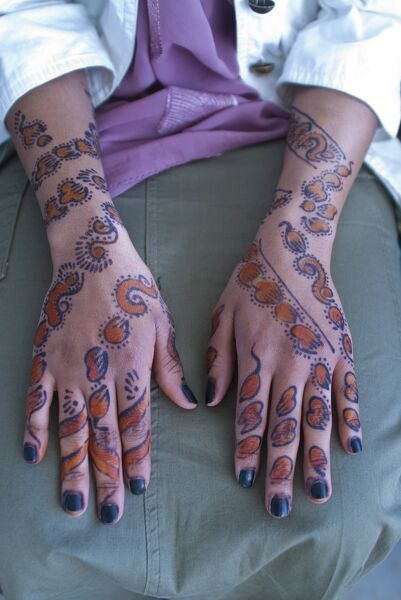Henna Tatto on Woman S Hands Covered In Henna Tattoos  Addis Ababa  Ethiopia  Africa