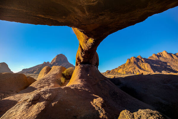 Spitzkoppe Arch at sunrise, Namibia, Africa