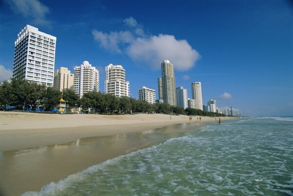 australia gold coast beaches. Surfers Paradise each, Gold