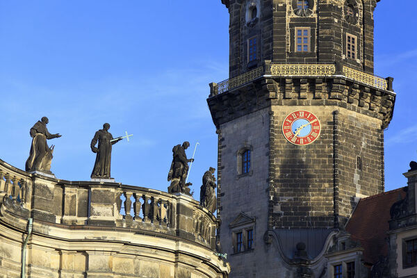 Germany, Saxony, Dresden, Old town and Theateplatz square