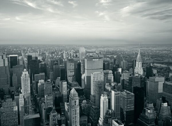 Black And White City At Night. lack and white city at night. new york city skyline at night