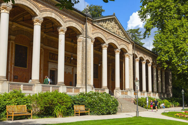 The Trinkhalle (pump house) Colonnade, Baden-Baden, Black Forest, Baden Wurttemberg, Germany, Europe