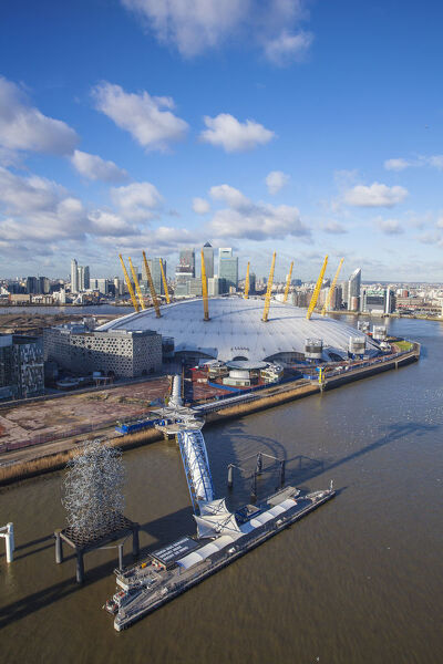 UK, England, London, View from the Emirates Air Line - or Thames cable car