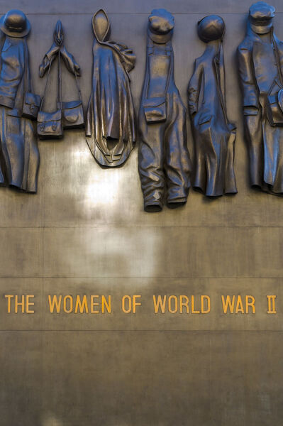 UK, London, Whitehall, Monument to The Women of World War II