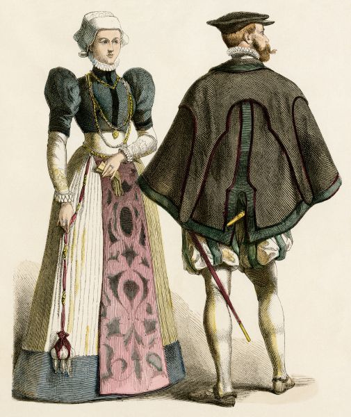 German Couple Of The 1500s German Citizens Of The Late