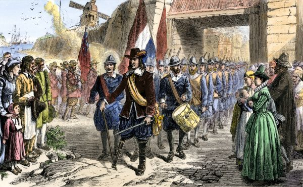 Image result for peter stuyvesant surrender