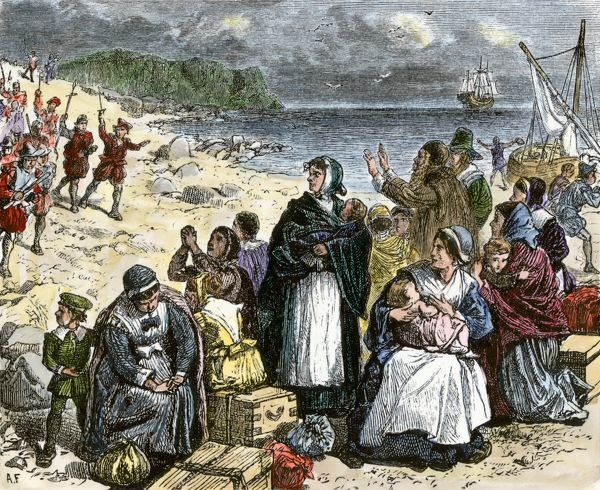 puritans attempting to leaving england early 1600s  Copyright   169  North    English Puritans 1600s