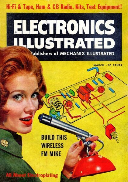 1960s usa electronics illustrated magazine cover