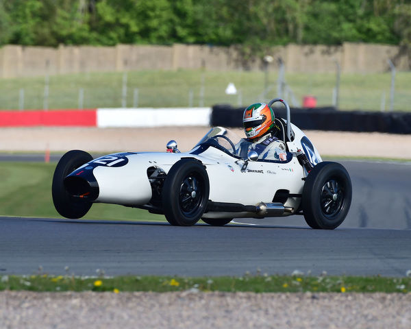 Niall Murray, Elva 100, Formula Junior Historic Racing Association, FJHRA, Historic Sports Car Club, HSCC, FJ Championship Front Engined, Donington Historic Festival, May 2019, motor racing, motor sport, motorsport, Nostalgia
