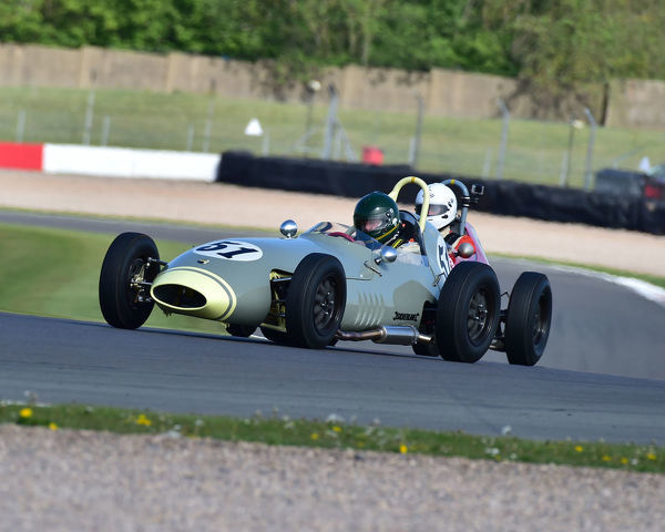 Michael Hibberd, Lola Mk 2, Formula Junior Historic Racing Association, FJHRA, Historic Sports Car Club, HSCC, FJ Championship Front Engined, Donington Historic Festival, May 2019, motor racing, motor sport, motorsport, Nostalgia, racing, racing cars