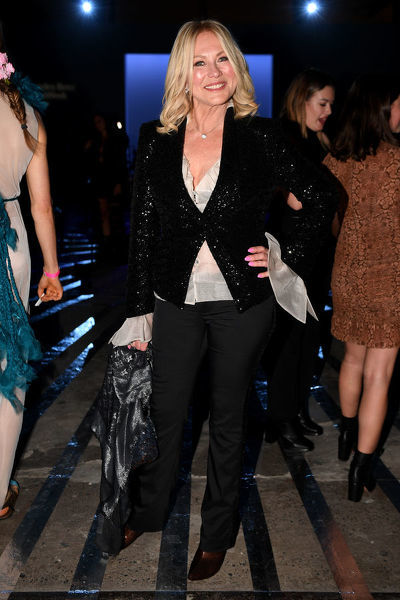 Kerri-Anne Kennerley attends the Carla Zampatti show during Mercedes-Benz Fashion Week Australia in Sydney, Thursday, May 16, 2019. (AAP Image/Dan Himbrechts) NO ARCHIVING, EDITORIAL USE ONLY