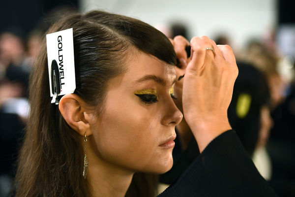Models are seen preparing backstage ahead of the Carla Zampatti show during Mercedes-Benz Fashion Week Australia in Sydney, Thursday, May 16, 2019. (AAP Image/Joel Carrett), EDITORIAL USE ONLY