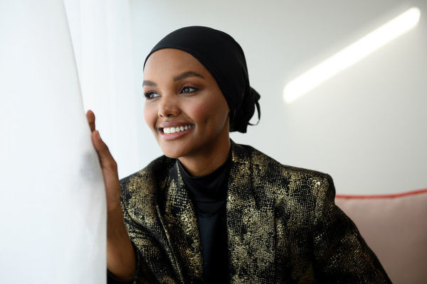 Somali-American model Halima Aden poses for a photograph during Mercedes-Benz Fashion Week Australia in Sydney, Thursday, May 16, 2019