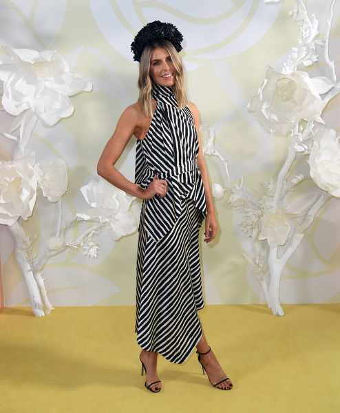 Georgia Connolly is seen at the Myer Spring Fashion Lunch at Flemington Racecourse in Melbourne, Thursday, September 12, 2019. (AAP Image/Julian Smith) NO ARCHIVING