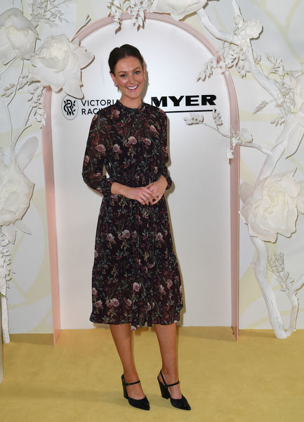 Madeline Slattery is seen at the Myer Spring Fashion Lunch at Flemington Racecourse in Melbourne, Thursday, September 12, 2019. (AAP Image/Julian Smith) NO ARCHIVING