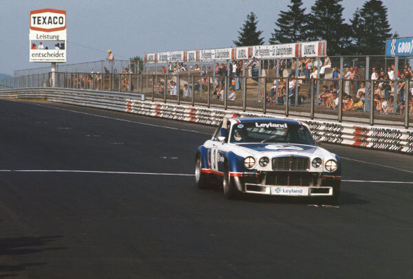 1977 European Touring Car Championship.   Nurburgring, Germany. 10th July 1977.   Derek Bell/Andy Rouse (Jaguar XJ 12C), 2nd position, action.   World Copyright: LAT Photographic.   Ref: 77ETCC