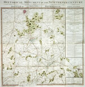 Battle of Waterloo map J020089