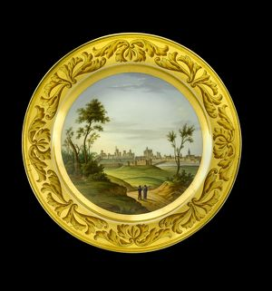 Dessert plate depicting Badajoz N081169