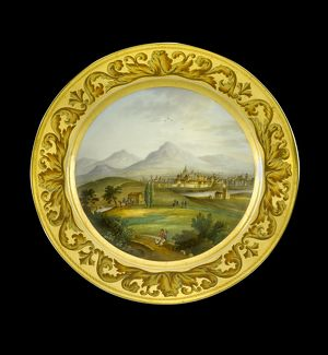 Dessert plate depicting Toulouse N081177