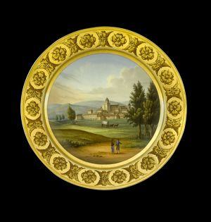 Dessert plate depicting Vittoria N081175