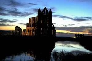 Whitby Abbey at sunset N080807