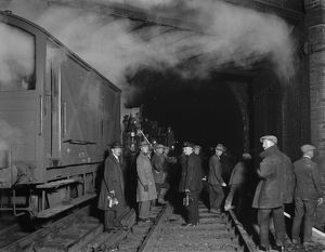 Electrification of the line at Merstham, 1931