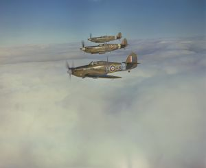 Hawker Hurricane and Supermarine Spitfires