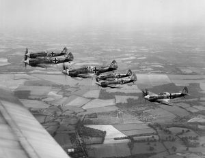Spitfires painted to represent Bf 109 aircraft