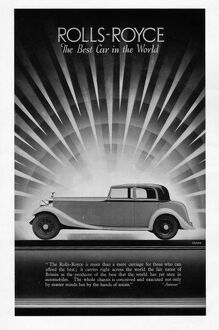 Advert for Rolls-Royce, 1936