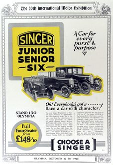 Advertisement for Singer cars