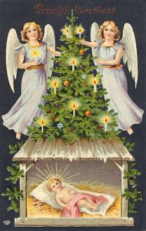 ANGELS, TREE, BABY JESUS