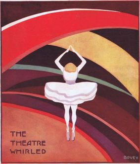 Art deco cover for Theatre World, July 1925