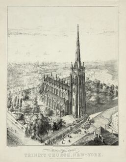 Birds-eye view of Trinity Church, New York