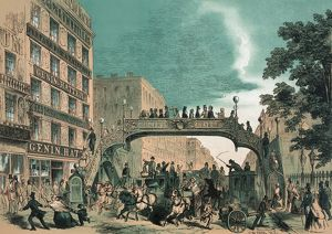 Broadway, N.Y. 1852. Genins new bridge
