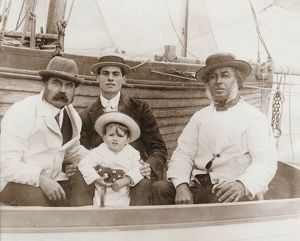 Captain Collins of Brighton, with his family